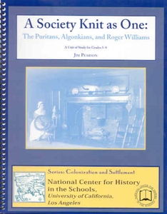 Picture of  A Society Knit as One: The Puritans, Algonkians, and Roger Williams: E-BOOK (NH117E)