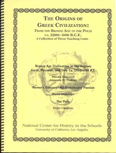 Picture of The Origins of Greek Civilizations: From the Bronze Age to the Polis, ca. 2500-600 B.C.E. A Collection of Three Teaching Units: CLASSROOM LICENSE (NH103E)